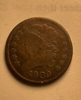 1809 U.S. HALF CENT - HALF PENNY - COPPER
