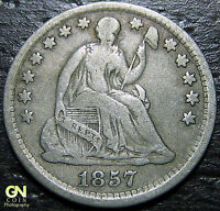 1857 P SEATED HALF DIME  --  MAKE US AN OFFER  Y7364
