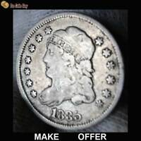 1835 CAPPED BUST HALF DIME   OLD COIN