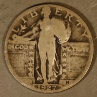 1927 S STANDING LIBERTY QUARTER SILVER CIRCULATED      FREE U.S. SHIPPING