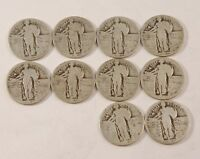 10 NO / PARTIAL DATE STANDING LIBERTY  QUARTERS MIXED DATE LOT