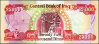 25 000 IRAQI DINAR  IQD    OFFICIAL IRAQ CURRENCY   AUTHENTIC   FAST DELIVERY