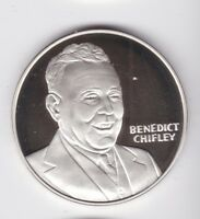 1945 1949 BENEDICT CHIFLEY SILVER MEDALLION EX PRIME MINISTE