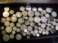 MIXED FOREIGN WORLD SILVER COINS  590  GRAMS SILVER SOME IN