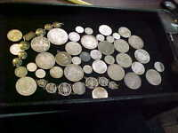 MIXED FOREIGN WORLD SILVER COINS  493  GRAMS SILVER INCLUDIN