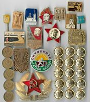 RARE OLD COLD WAR RUSSIA CIVIL PIN MEDAL MILITARY BADGE COIN
