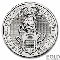 2019 SILVER GREAT BRITAIN QUEEN'S BEASTS  THE YALE    2 OZ