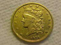 1834 CLASSIC HEAD HALF EAGLE $5 GOLD COIN FINE   FINE  OLD G