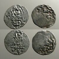 2 SILVER COINS OF THE GOLDEN HORDE___MONGOL EMPIRE___DESCEND