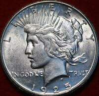 UNCIRCULATED 1925 S SAN FRANCISCO MINT SILVER PEACE DOLLAR