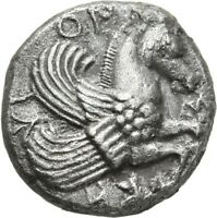 LANZ TROAS SKEPSIS DRACHM PEGASOS PALM TREE  GREEK SILVER NE