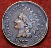 1867 PHILADELPHIA MINT INDIAN HEAD CENT