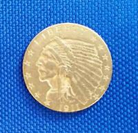 1911 P US $2.50 GOLD INDIAN COIN      L3826