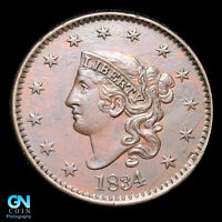 1834 CORONET HEAD LARGE CENT  BEAUTIFUL COLOR AND EYE APPEAL   Z39