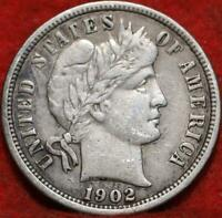 1902 O NEW ORLEANS MINT SILVER BARBER DIME