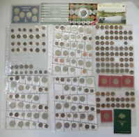 AUSTRALIAN DECIMAL COIN COLLECTION C.1966 91 IN SHEETS   MINT SETS 2.4KG