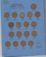 CANADA SMALL CENTS COLLECTION 1920 TO 1974 MISSING 1922