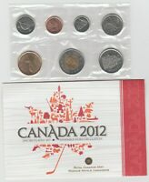 2012CANADAPROOF LIKE7 COINSET   THE LAST WITH THE PENNY.