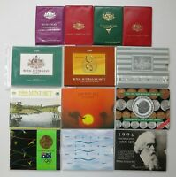 GROUP OF ROYAL AUSTRALIAN MINT 1977 1996 UNCIRCULATED DECIMAL COIN SETS