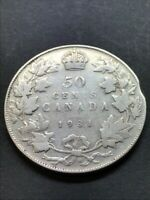 50 CENTS CANADA 1931