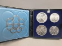 1973 CANADIAN STERLING SILVER OLYMPIC 4 COIN SET  NO COA