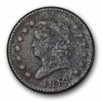 1812 CLASSIC HEAD LARGE CENT  FINE VF US COIN CORRODED 10522