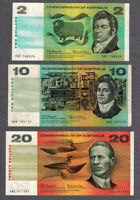 COMMONWEALTH OF AUSTRALIA 1966 COOMBS/WILSON $2 20 BANKNOTES