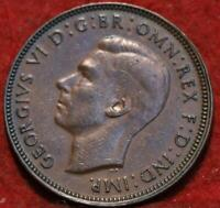 1944M AUSTRALIA 1/2 PENNY FOREIGN COIN