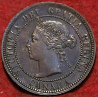 1884 CANADA ONE CENT FOREIGN COIN