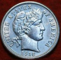 UNCIRCULATED 1900 S SAN FRANCISCO MINT SILVER BARBER DIME