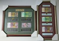 FRAMED COLLECTION AUSTRALIAN 1982 2008 DECIMAL CURRENCY COIN