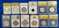 12 PIECE LOT US COINS 4 NGC/NCS/ANACS/OTHERS 1C THRU SILVER