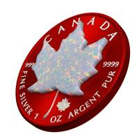 CANADA 2019 5$ MAPLE LEAF SPACE RED 1OZ SILVER COIN WITH REA