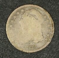 1833 HIGH 3  CAPPED BUST DIME CIRCULATED        FREE U.S. SHIPPING