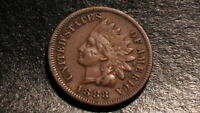 1883 INDIAN HEAD CENT FULL LIBERTY ON THIS HISTORIC AMERICAN COIN 691B6