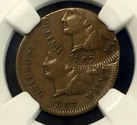 ULTRA 1867 INDIAN HEAD PENNY DOUBLE STRUCK OFF CENTER MINT ERROR NGC EXTRA FINE 40