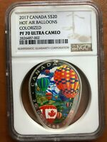 2017 CANADA $20 NGC PF70 ULTRA CAMEO HOT AIR BALLOONS COLORI