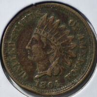 1864 1C INDIAN CENT COPPER NICKEL TYPE COIN CIRCULATED  FINE VF/EXTRA FINE