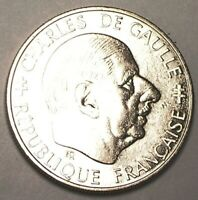 1988 FRANCE FRENCH ONE 1 FRANC DE GAULLE COIN EXTRA FINE