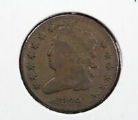 1829 CAPPED BUST LIBERTY HALF CENT