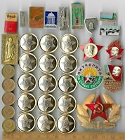 RARE OLD RUSSIA LENIN VINTAGE BADGE CIVIL COIN COLLECTION CC