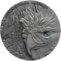 NIUE ISLANDS 2018 1$ SKY HUNTERS   PHILIPPINE EAGLE 1OZ SILV