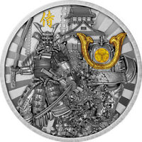 NIUE ISLAND 2019 5$ WARRIORS SAMURAI 2OZ SILVER COIN