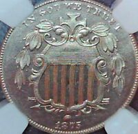 1875 SHIELD NICKEL NGC PROOF 65