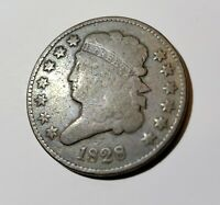 AFFORDABLE 1828 CLASSIC HEAD UNITED STATES COPPER HALF CENT 13 STAR VARIETY