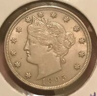 1895 LIBERTY NICKEL   , AU , BETTER DATE