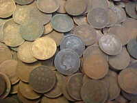 215  CANADA LARGE CENT LOT 1859   1920 MANY IN HIGH GRADE NC