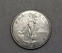 1903 S US PHILIPPINES USPI SILVER ONE PESO COIN FROSTED UNCI
