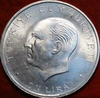 UNCIRCULATED 1960 TURKEY 10 LIRA SILVER FOREIGN COIN