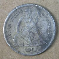 10C 1861-S SEATED LIBERTY DIME EXTRA FINE  DETAILS GROUND FIND  AVENUECOIN